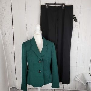 New Le Suit Two Tone Pants Suit Jacket Work Career